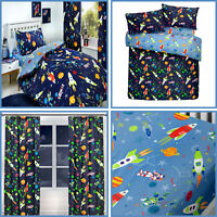 Blue Space Glow in the Dark Duvet Cover Set Supersonic Reversible Bedding Range