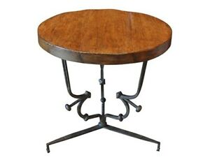Gregorius Pineo's Cast Iron And Walnut St. Remy Side Table