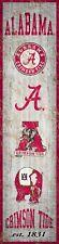 "Alabama Crimson Tide Heritage Banner Retro Logo Wood Sign 6"" x 24"" Wall Est 1831"