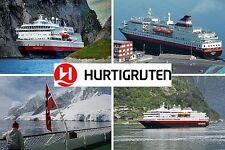 SOUVENIR FRIDGE MAGNET - CRUISE HURTIGRUTEN NORWAY