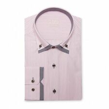 Long Sleeve Fitted No Striped Casual Shirts & Tops for Men