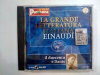 CD-ROM LA GRANDE LETTERATURA ITALIANA EINAUDI IL DUECENTO E DANTE PANORAMA