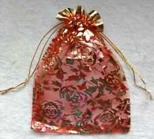 Red Golden Zari Work jewelry Pack & Gift Pouch Also Use For Wedding Beg