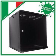 """Armadio Rack 19"""" ECONOMY  - 12 Unità 450mm di Profondità - colore Nero"""