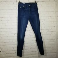 Gap Womens Jeans Size 28 High Rise Skinny Stretch Dark Wash Whiskering
