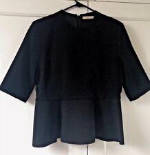 Celine Black Peplum Top, size FR40
