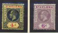 St. Helena Stamps Scott #73 To 74, Mint Hinged, Hinge Remnant