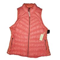 New Tangerine Lightweight Stretch Down Puffer Light Coral Size XXL Women's Vest