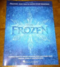 NEW Frozen Disney Movie Songs (Easy) Piano Sheet Music Hall Leonard Song Book