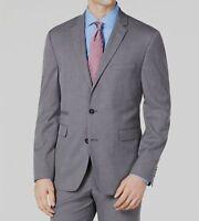 $932 Vince Camuto Men's 44R Gray Slim Fit Stretch Suit Sport Coat Blazer Jacket