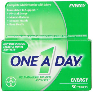 One-A-Day Energy Multivitamin Multimineral 50 Tablets.