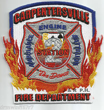 "Carpentersville  Station-2  ""The Deuce"", IL  (4.25"" x 4.25"" size) fire patch"