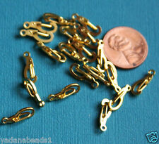 20 gold plated Lobster claw clasps 14mm X 5mm self closing
