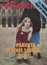 Le Nouvel Observateur   N°749   19 Au 25 Mars 1979: Parents si vous saviez