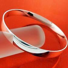CUFF BANGLE 925 STERLING SILVER S/F SOLID LADIES GOLF BRACELET FS3AN907