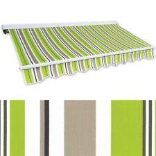 Kassettenmarkise Hülsenmarkise 2x1,5m grün-braun Gelenkarm Sonnenschutz Alu