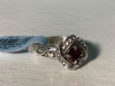 "BRIGHTON ABC Silver ""Eternity Knot"" Red Crystal Ring  Size 6 NWT"