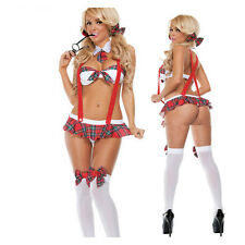 School Girl Cosplay Uniform Adult Womens Student Lingerie Costume Fancy Dress