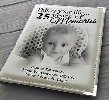 """GUESTBOOK libro firma personalizzata PHOTO ALBUM 7x5 """"X 36 25A regalo di compleanno."""