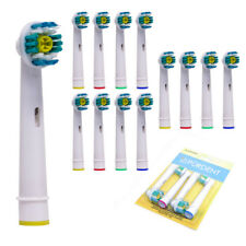 12 Pürdent Toothbrush Heads Brush For Oral B Braun Pro White Head Replacement