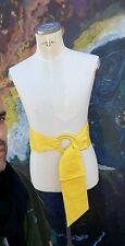 belt vintage yellow canary vntg 70s belt wide huge sash? zodiac rare deadstock