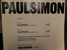 Paul Simon Allergies PROMO  33 RPM VINYL VG+ 011116 TLJ2