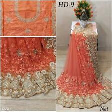 Indian Designer Net Sari Heavy Pearl, Stitched Blouse,Fall, Pico ready to wear