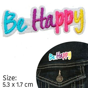 Be happy iron on patch happiness no worries embroidery transfer iron-on patches