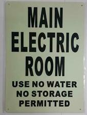 Main Electric Room Sign Glow In The Dark Heavy Dutyaluminum Signref0420