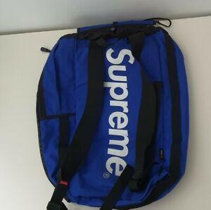 SS15 Supreme Mesh Bucket Backpack Cordura fabric blue royal