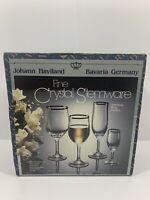 John Haviland Fine Crystal Stemware 4 Piece Crystal Set Made In Bevaria Germany