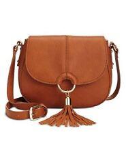 INC International Concepts Emerson Saddle Bag Cognac $59.50
