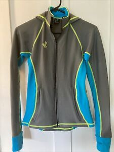 Women's JL Velo Cycling Jacket, Biking, Fitted, Gray & Blue, Size Extra Small