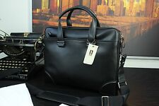 NWT HARTMANN Luxury Premium Italian Made Italy Leather Laptop Briefcase Bag Mens