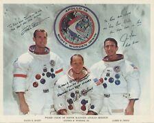 Rare APOLLO 15 Crew Signed Photo
