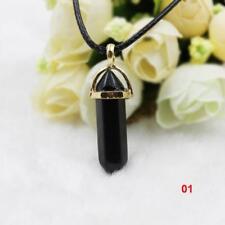 Preciosa Mujer Gargantilla Collar Colgante De Cristal Natural Piedra Necklace