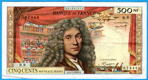 France 500 NF MOLIERE 4.1.1963 TTB
