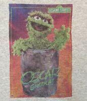 Oscar The Grouch -  Sesame Street Muppet Gray T-Shirt Adult Size Small