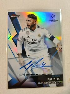2017-18 Topps Finest Champions League Sergio Ramos Auto *RARE* Real Madrid