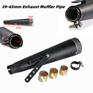 Universal Stainless Steel Motorcycle Exhaust Muffler Pipe Refit Retro Modified