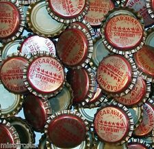 Soda pop bottle caps Lot of 25 CARAVAN STRAWBERRY camels unused new old stock