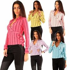 Women's Casual Long Sleeve Sleeve Collared Polyester Tops & Shirts