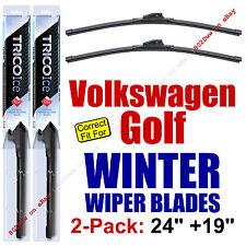 WINTER Wipers 2-Pack Premium - fit 2007-2014 VW Volkswagen Golf - 35240/35190
