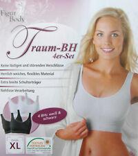 Figur Body Traum BH 4er Set Weiß & Schwarz XL Neu