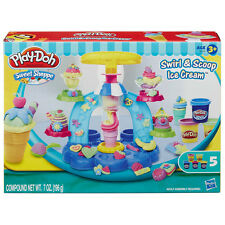 Play-Doh Sweet Shoppe Swirl And Scoop Ice Cream Set + 5 Tubs! Hasbro B0306 New