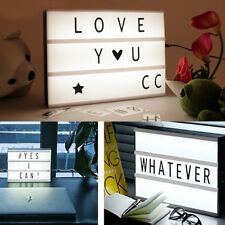 A6 Cinema Light Up Letter Box Sign Lightbox DIY Message Board Party Decor Toy