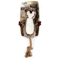 All For Paws CLASSIC JUSTIN BEAVER w/ ROPE Dog Toy Realistic Eco Friendly