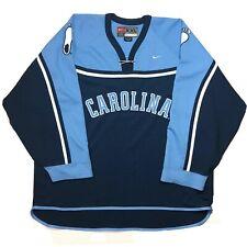 Vintage Nike UNC North Carolina Tar Heels Authentic Hockey Jersey Mens Size 2XL
