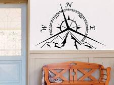 Mountains Compass Rose Wall Decal Nautical Compass Navigate Ship Bedroom NV135