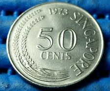 1973 Singapore 50 Cents Lion Fish Coin